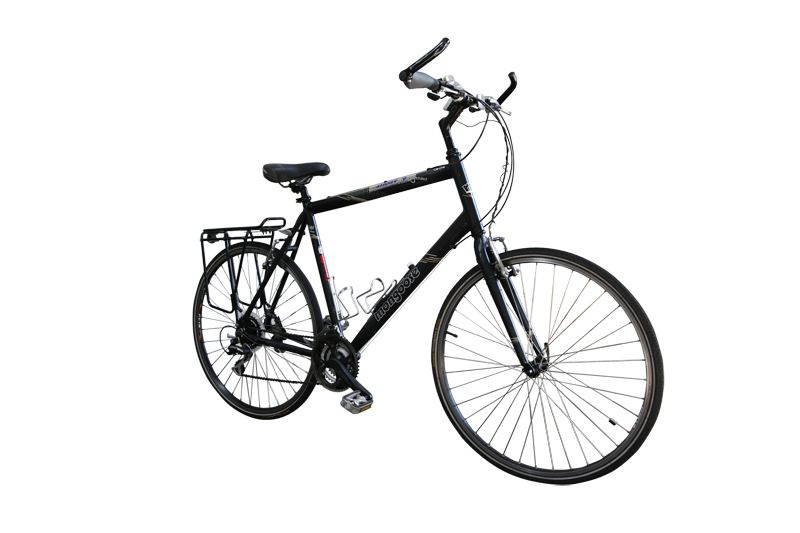 Our touring bikes can be fitted with rear rack, handlebar extensions, trip computer and more.