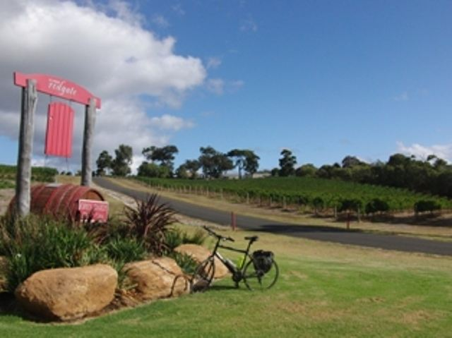 Visiting one of the many wineries in the Margaret River region.