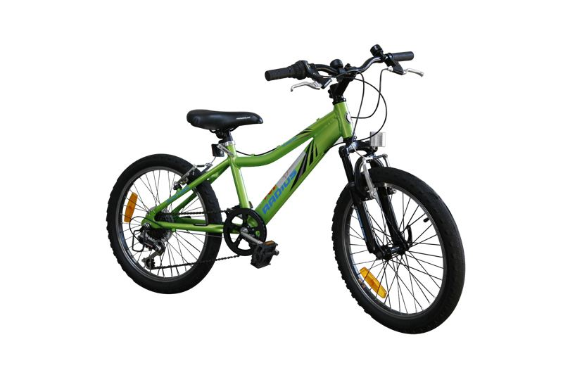 Some very small childrens bikes are available, with trainer wheels fitted to several.